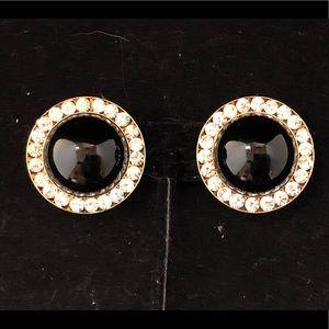 Jewelry - Blk w Rhinestones Clip Ons!